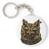 Owl Logo Keychain