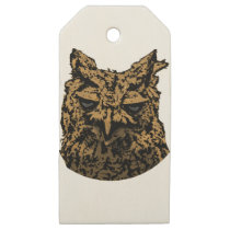 Owl Logo Wooden Gift Tags