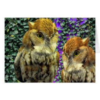 """Owl Look"" Design for Kids & Grown-Ups Card"