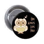 Owl Love 2 Inch Round Button
