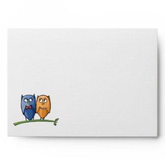 Owl Love A7 Card Envelope envelope
