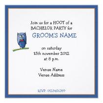 Owl Love Bachelor Party Invitation