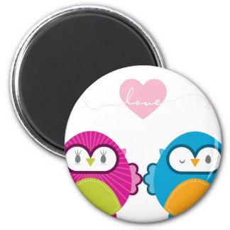 OWL LOVE :: bright girl + boy Magnets