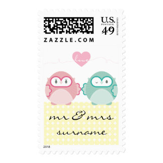 OWL LOVE :: bright girl + boy Stamps