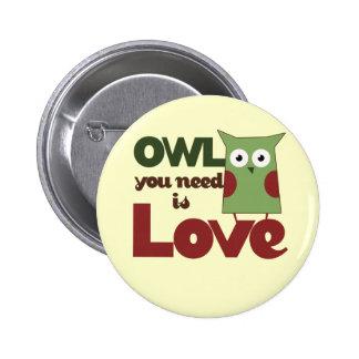 Owl Love Button