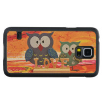 Owl love carved maple galaxy s5 case