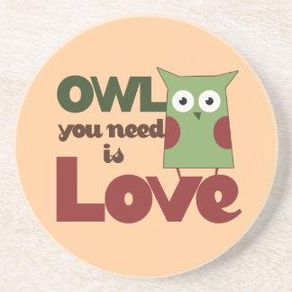 Owl Love Coaster