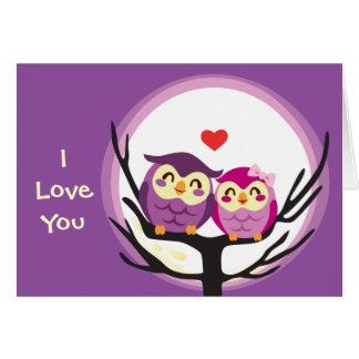 Owl Love Couple Card