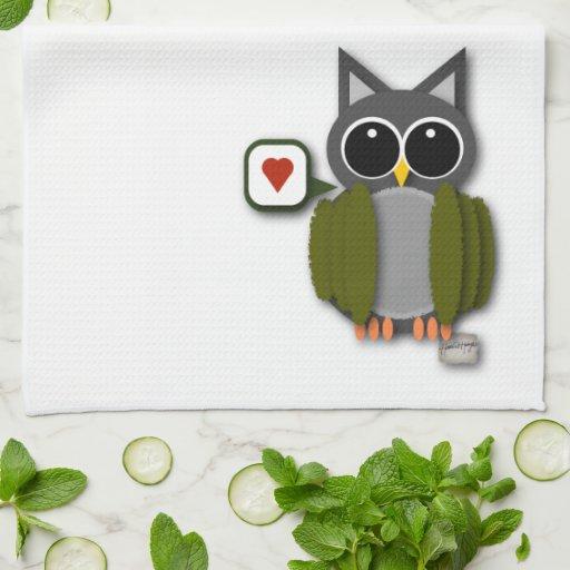 Owl Love Dish Towel