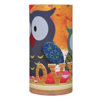 Owl love flameless candle