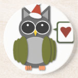 Owl Love for the Holidays! Beverage Coaster