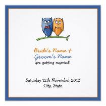 Owl Love framed Wedding Announcement