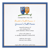 Owl Love framed Wedding Invitation