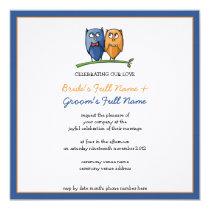 Owl Love framed Wedding Invitation