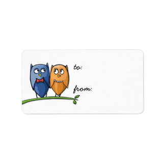 Owl Love Gift Tag Label