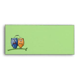 Owl Love green #10 Letterhead Envelope