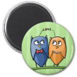 Owl Love green Magnet