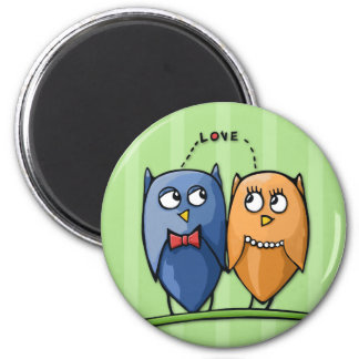 Owl Love green Magnet