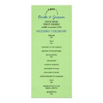 Owl Love green Wedding Program