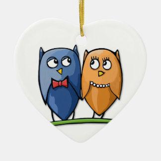 Owl Love Heart Ornament