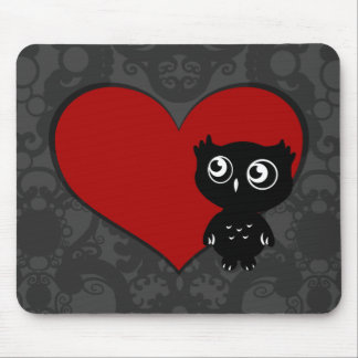 Owl Love III Mouse Pad