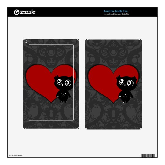 Owl Love III Skins For Kindle Fire