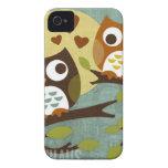 owl love iPhone 4 Case-Mate case