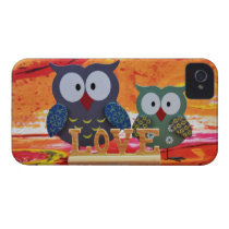 Owl love iPhone 4 cover