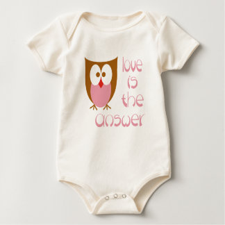 Owl Love is the Answer Infant Creeper