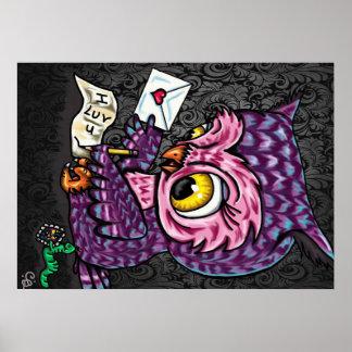 Owl Love Letter Poster
