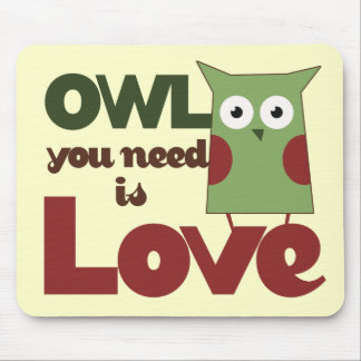 Owl Love Mouse Pad