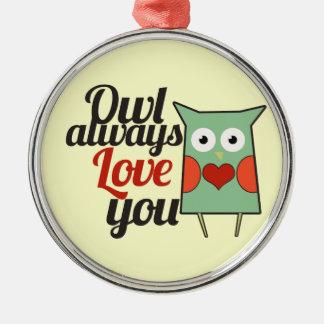 Owl Love Christmas Tree Ornaments