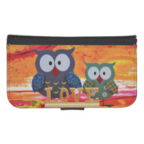 Owl love phone wallet