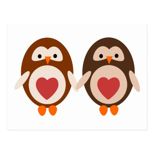 Owl Love Post Card
