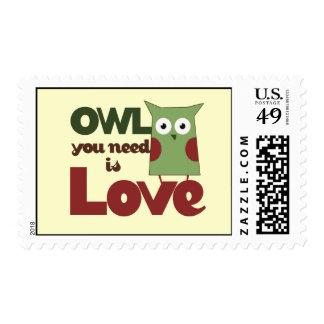 Owl Love Postage