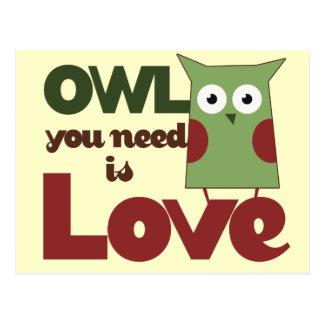 Owl Love Postcard