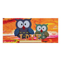 Owl love rack card