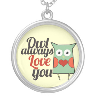 Owl Love Silver Plated Necklace