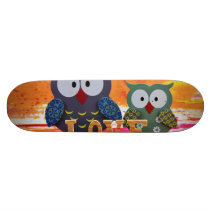 Owl love skateboard