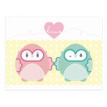 OWL LOVE :: soft girl + boy Postcards