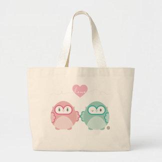 OWL LOVE :: soft girl + boy Tote Bag