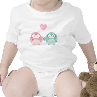 OWL LOVE :: soft girl + boy Tee Shirt