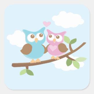 Owl Love Square Sticker