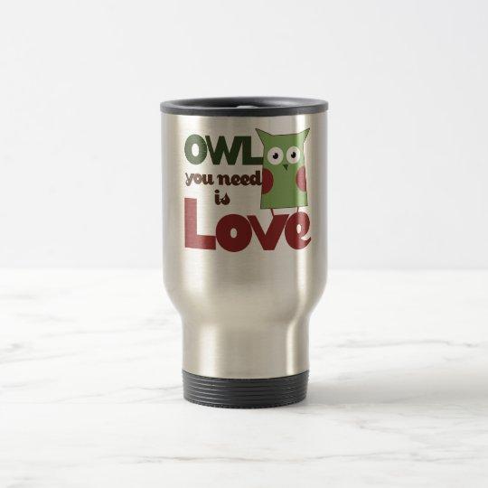 Owl Love Travel Mug