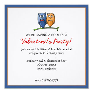 Owl Love Valentine's Party Invitation