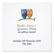 Owl Love Wedding Announcement