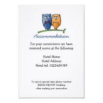 Owl Love Wedding Enclosure Card