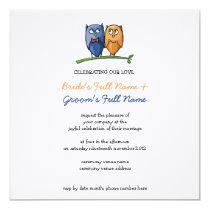 Owl Love Wedding Invitation