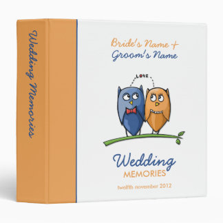 Owl Love Wedding Memories Binder