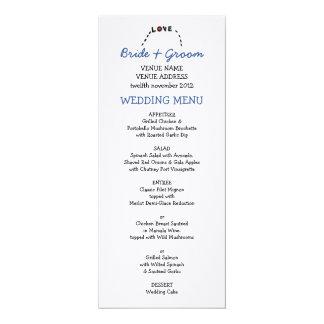 Owl Love Wedding Menu Card